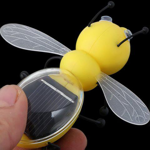 Cheap Solar Power Bee Animal Educational Toy with Solar Panel - YELLOW  Mobile