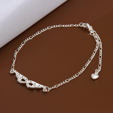 Outfit Trendy Eyepatch Hollow Out Solid Color Anklet - WHITE  Mobile
