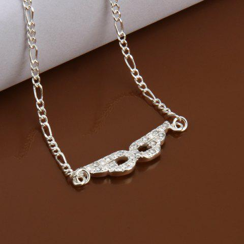 Buy Trendy Eyepatch Hollow Out Solid Color Anklet - WHITE  Mobile