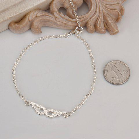 Affordable Trendy Eyepatch Hollow Out Solid Color Anklet - WHITE  Mobile