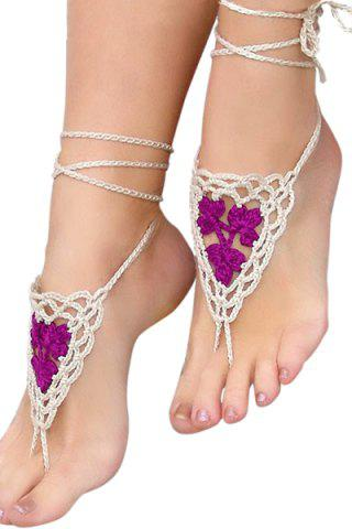 Buy Romantic Cotton Crocheted Anklet For Women