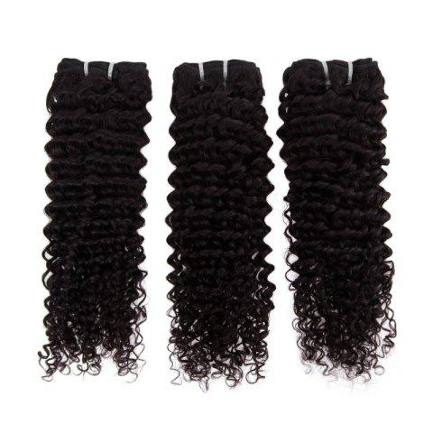 Shops Impressive Real 6A Brazilian Kinky Curly Virgin Hair 16 Inch Natural Black Human Hair Weft For Women -   Mobile