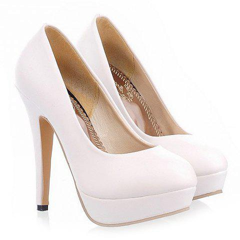 Best Concise Round Toe and Stiletto Design Women's Pumps