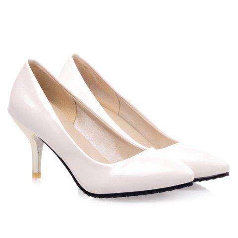 Cheap Concise Pointed Toe and Stiletto Design Women's Patent Leather Pumps
