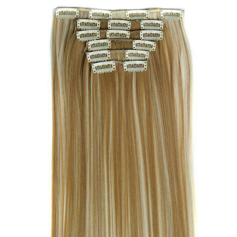 Sale Long Straight Clip-In Heat Resistant Synthetic Hair Extension Suit For Women - 27H613  Mobile
