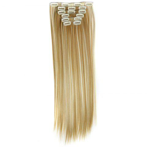Shops Long Straight Clip-In Heat Resistant Synthetic Hair Extension Suit For Women - 27H613  Mobile
