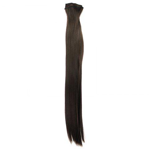 Buy Long Straight Clip-In Heat Resistant Synthetic Hair Extension Suit For Women - 2/33#  Mobile