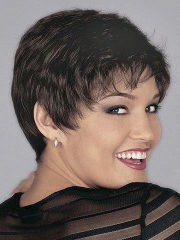 Fashion Super Short Side Bang Heat-Resistant Short Curly Spiffy Sexy Style Women's Synthetic Hair Wig