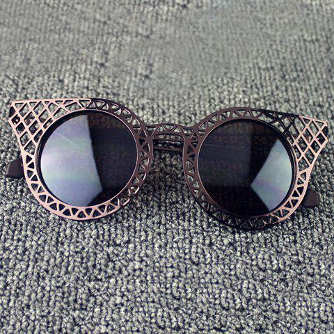 Affordable Hot Sale Women's Hollow Out Mesh Embellished Sunglasses