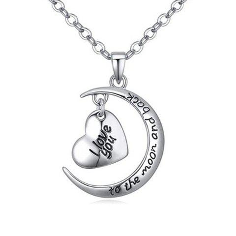 New Delicate Heart Letter Pendant Necklace For Women