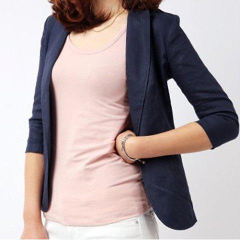 Fashion Casual Lapel Solid Color 3/4 Sleeve Blazer For Women