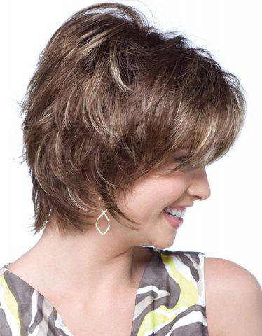 Affordable Fashion Towheaded Side Bang Charming Short Curly Synthetic Capless Wig For Women - COLORMIX  Mobile
