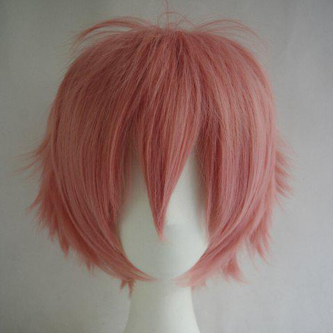 New Fashion Fluffy Side Bang 30CM Charming Short Straight Heat Resistant Synthetic Cosplay Wig For Women