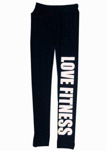 Fashion Stylish Low-Waisted Letter Slimming Women's Leggings