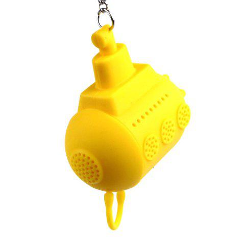 Practical Submarine Silica Gel Spherical Filter Tea Tool - YELLOW