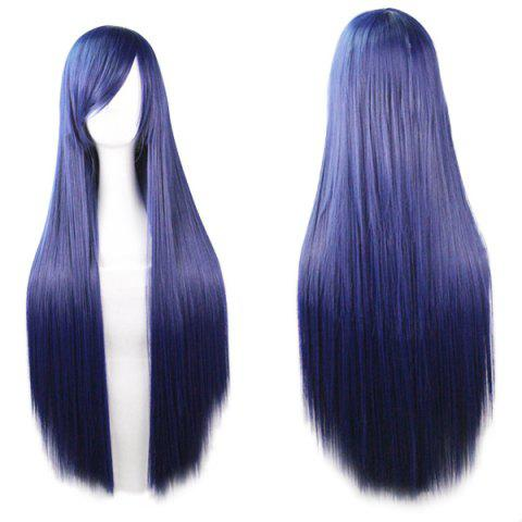Shops 80CM Charming Glossy Side Bang Long Straight Heat Resistant Fibre Versatile Cosplay Wig