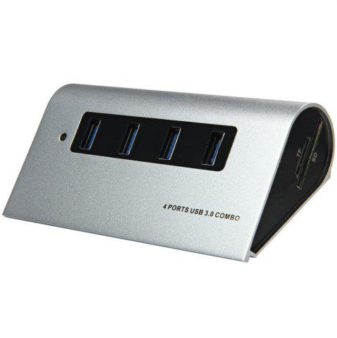 Cheap 5Gbps 4 Ports USB 3.0 Hub + TF / SD Card Reader with LED Indication for Home Office