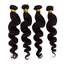 6A Natural Black Virgin Hair 20 Inch Popular Brazilian Loose Wavy Hair Weft For Women