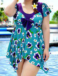 Stylish Push Up Printed One-Piece Women's Swimwear