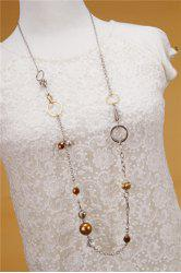 Retro Beads Rhinestone Sweater Chain Necklace For Women -