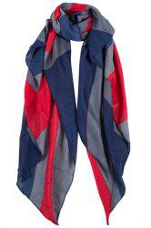 Chic Union Jack Print Color Block Scarf For Women -