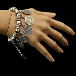 Delicate Coin Shape Tassels Bracelet For Women