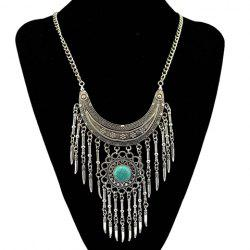 Bohemia Turquoise Crescent Necklace For Women