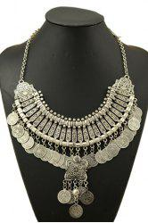 Retro Printed Round Necklace For Women -