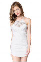 Sexy Round Neck Sleeveless Hollow Out Criss-Cross Women's Dress -