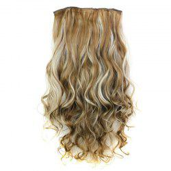 Fashion 23 Inch Long Curly Clip-In Heat Resistant Synthetic Hair Extension For Women - 6H613