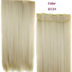 Trendy 23 Inch Long Straight Clip-In Heat Resistant Synthetic Hair Extension For Women