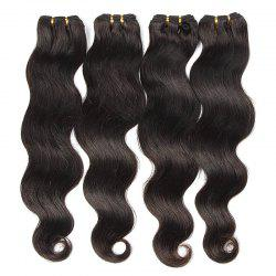 Natural Black Body Wavy Glossy 6A Unprocessed Women's Brazilian Virgin Hair Extension 8-30 Inch