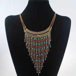 Vintage Beads Tassel Necklace For Women