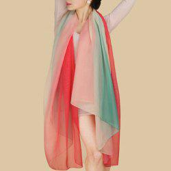 Chic Multicolor Stripy Chiffon Scarf For Women