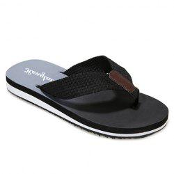 Stylish Flip Flop and Ombre Design Men's Casual Shoes - BLACK