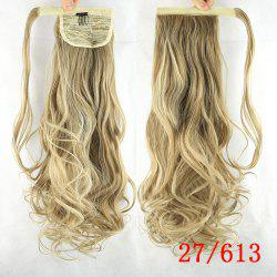 Charming Wave Long Romantic Synthetic Heat Resistant Fiber Ponytail For Women - /