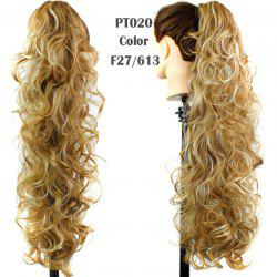 Stylish Capless Heat Resistant Synthetic Charming Long Curly Ponytail For Women - F27/613#
