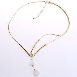 Trendy Bohemian Style Triangle and Waterdrop Shape Hairband For Women - WHITE AND GOLDEN