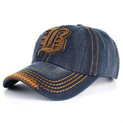 Stylish Sewing Thread and Retro Letters Shape Embellished Visor For Men