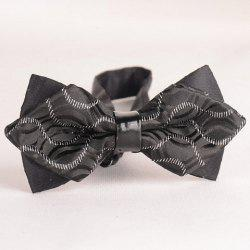 Stylish Wavy Stripe Pattern Color Block Double-Deck Bow Tie For Men -