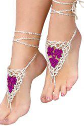 Romantic Cotton Crocheted Anklet For Women -