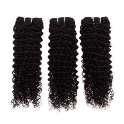 Impressive Real 6A Brazilian Kinky Curly Virgin Hair 16 Inch Natural Black Human Hair Weft For Women -