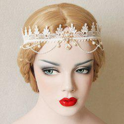 Retro Lace Faux Pearl Hairband For Women