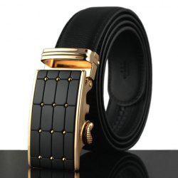 Stylish Polka Dot Shape Alloy Embellished Faux Leather Belt For Men - BLACK