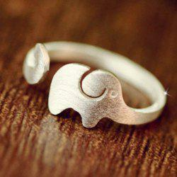Delicate Solid Color Elephant Shape Cuff Ring For Women -