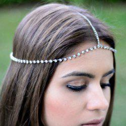Simple Rhinestone Link Hairband For Women -
