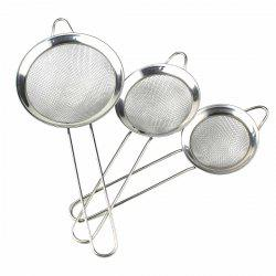 3Pcs Kitchen Stainless Steel Net Barrier Spoon Easy Cooking(S / M / L ) -