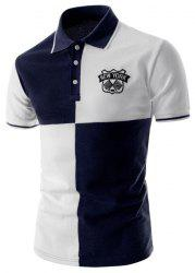Two Tone Graphic Polo T-Shirt