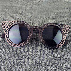Hot Sale Women's Hollow Out Mesh Embellished Sunglasses -
