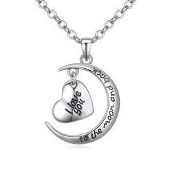 Delicate Heart Letter Pendant Necklace For Women -